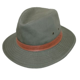 DPC Outdoor Design Men's Washed Twill Rain Repellent UPF 50+ Safari Hat - Black