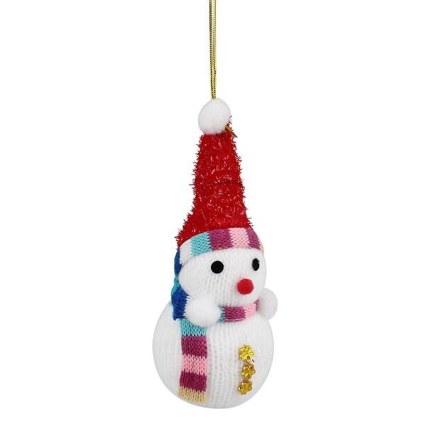Unique Bargains Gold Tone Snowflake Decor Snowman Pendant White for Home Christmas Tree Ornament