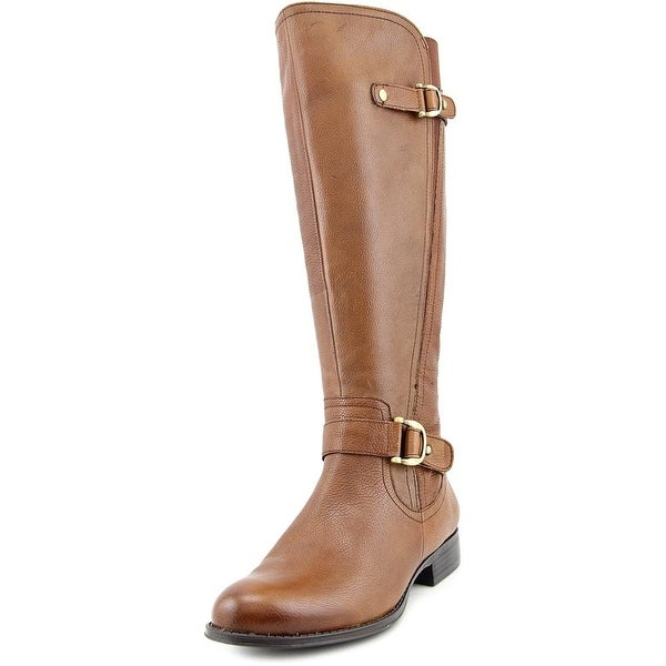 Naturalizer Jersey Round Toe Leather Knee High Boot