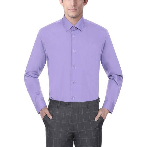 Men's Regular/Classic Fit Dress Shirts Long Sleeve Dress Shirt for Men