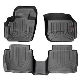 WeatherTech 44483-1-2 Black Front & Rear FloorLiner: Ford Fusion 2013 + Auto, Lincoln MKZ 2013 +