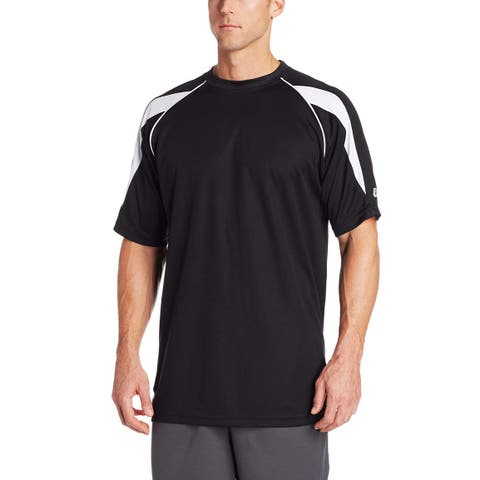 Russell Athletic Men's Big & Tall Dri-Power, Black/Grey, Size X-Large Tall - X-Large Tall