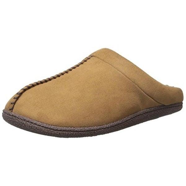 Dearfoams Mens Clog Slippers Wool Mule