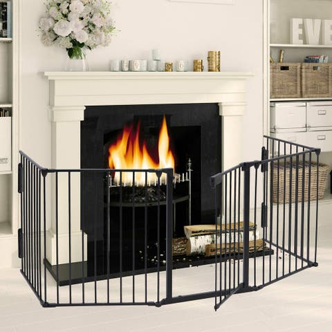 Fireplace Fence Baby Safety Fence Hearth Gate BBQ Fire Gate Fireplace