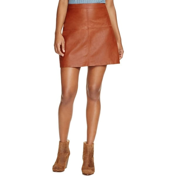 5a6308c9f4 Shop Sanctuary Womens Ella A-Line Skirt Leather Above-Knee - Free Shipping  On Orders Over $45 - Overstock - 14657025