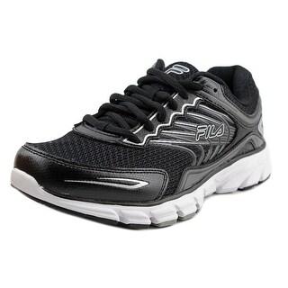 Fila Memory Maranello 4 Men Round Toe Synthetic Black Running Shoe