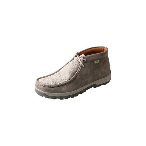Twisted X Casual Shoes Mens CellStretch Lace Chukka Gray