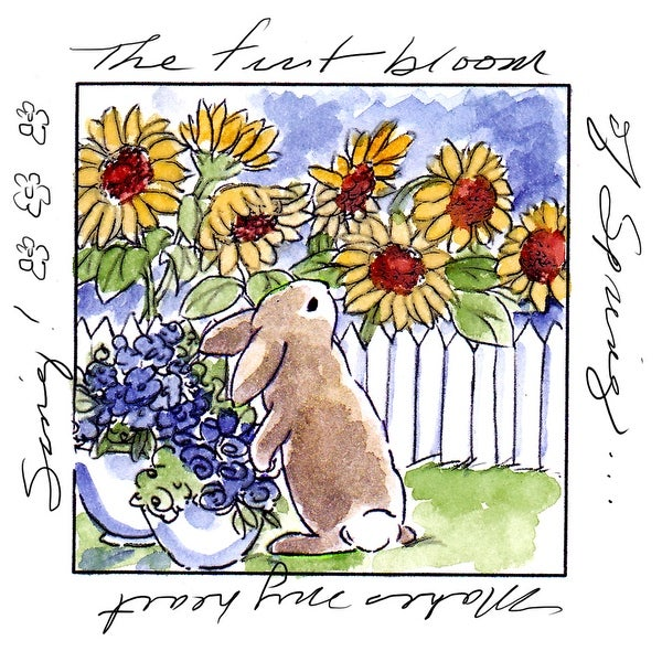 """Art Impressions Windows To The World Cling Stamp 4""""X5.25""""-First Bloom Window"""