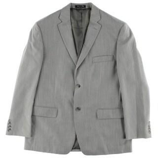 Bert Pulitzer Mens Single Vent Woven Two-Button Suit Jacket
