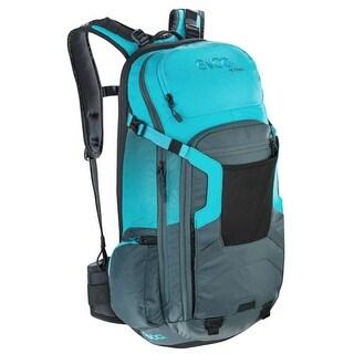 EVOC FR Trail Protector Backpack - 20L - Slate/Neon Blue - Medium/Large - 100102225-M/L