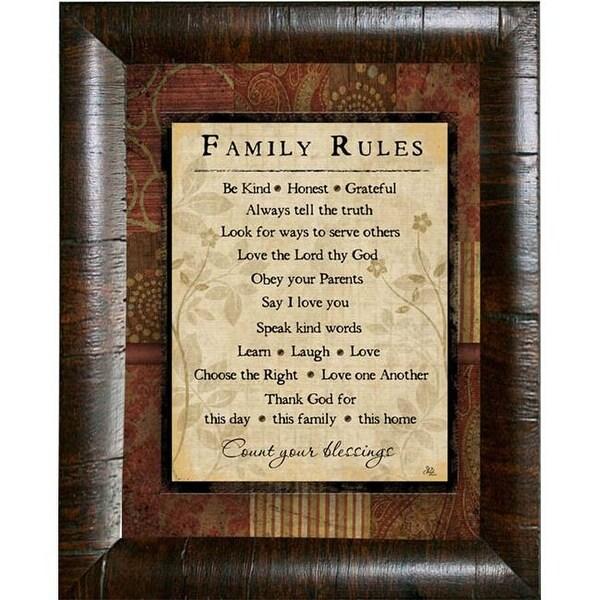 Karens Art And Frame Jp2671 Family Rules