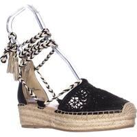 Nanette Lepore Bitsy1 Espadrille Wedge Sandals, Black