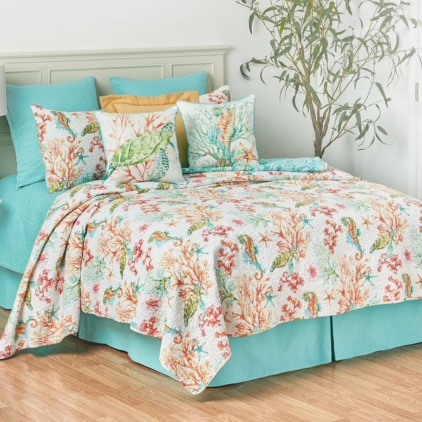 Chandler Cove Coastal Twin Quilt Set. Opens flyout.