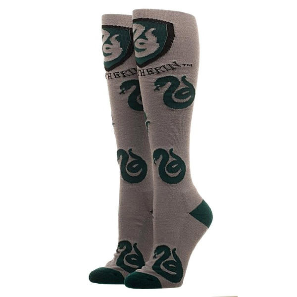 Harry Potter Slytherin Logo Grey Knee High Socks
