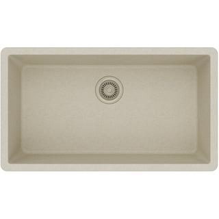 "Elkay ELGRU13322  Gourmet 33"" Single Basin Undermount Quartz Kitchen Sink with Rear Drain"