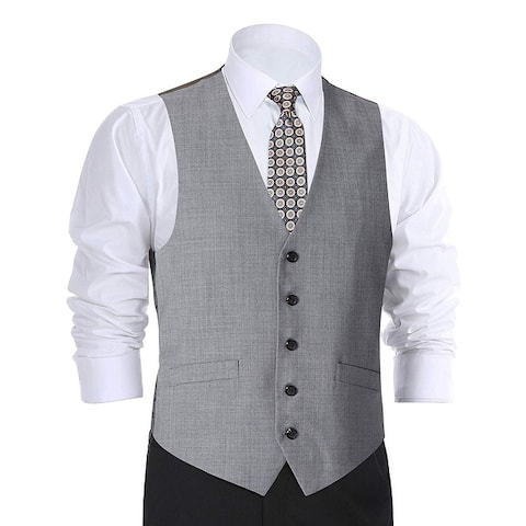 Men's Wool Suit Vest Business Formal Waistcoat Vest