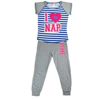Katnap Kids Girl's Heart Tee and Jogger Pant Pajama Set
