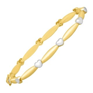 Eternity Gold Heat Bar Link Bracelet in 14K Two-Tone Gold