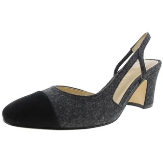 Ivanka Trump Womens Liah2 Pumps Cap Toe Slingback Gray 8.5 Medium (B,M) - 8.5 medium (b,m)