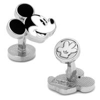 Vintage Style Mickey Mouse Face Silver Plated Cufflinks