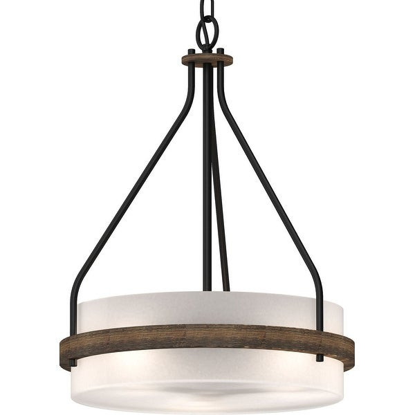 Volume Lighting 4773 Emery 3 Light 16 Wide Drum Mini Chandelier With Frosted Gl N A