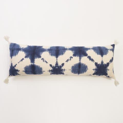 Gradielle Blue White Cotton Extra Long Bolster Pillow