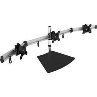"""Siig Premium Aluminum Triple Monitor Stand - Adjustable Height 3 Monitors 13"""" To 27"""" 17.6 Lbs Each Vesa 75 And 100 Compa