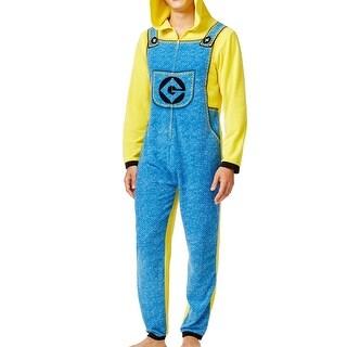 Despicable Me NEW Yellow Blue Mens Size Medium M Hoodie Minion Pajama