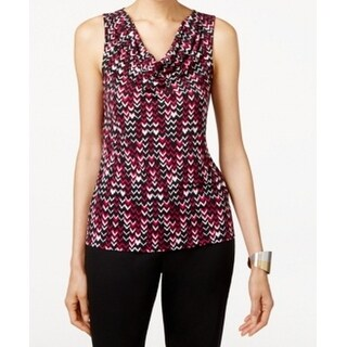 Tahari BY ASL NEW Purple Draped Cowl Shell Women's Size XL Blouse