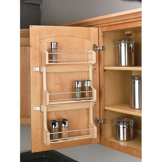 "Rev-A-Shelf 4SR-18 4SR Series Door Mount Spice Rack for 18"" Wall Cabinet"