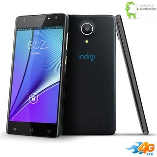 "Indigi 4G Smart Phone 5"" IPS Screen DuoSim Android 6.0 (Factory Unlocked) AT&T T-Mobile - Black"