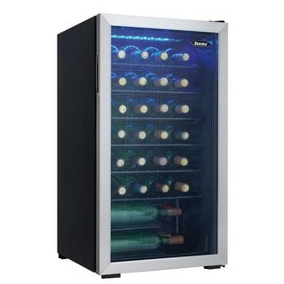 Danby DWC93 18 Inch Wide 36 Bottle Capacity Free Standing Wine Cooler with LED S