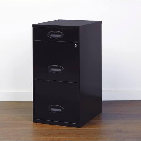 Space Solutions 3-drawer Black Metal Organizer File Cabinet