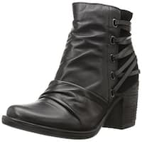 Miz Mooz Womens Mimi Leather Closed Toe Ankle Fashion Boots