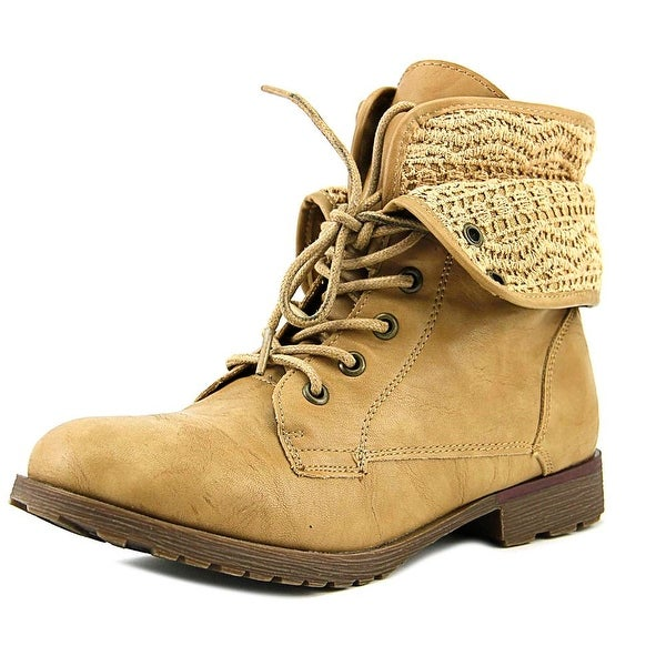 Rock & Candy Spraypaint Crochet Women Round Toe Synthetic Tan Ankle Boot