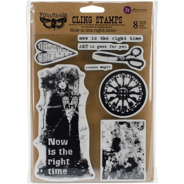 """Finnabair Cling Stamps 6""""X7.5""""-Now Is The Right Time"""