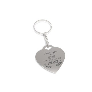 Thank You for Raising the Man of My Dreams Key Chain Gift for Mother in Law