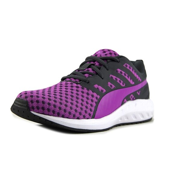 Puma Flare Woven Women Round Toe Canvas Purple Sneakers