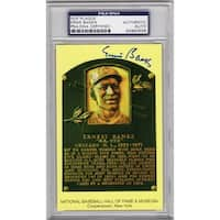Ernie Banks National Baseball Hall of Fame Plaque Card  PSA Encapsulated