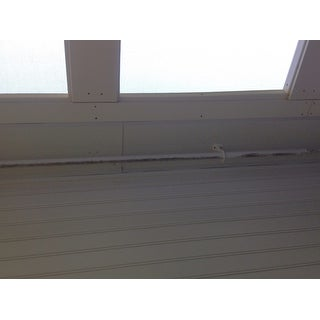 Shop Pinnacle White Metal Outdoor Curtain Rod Free