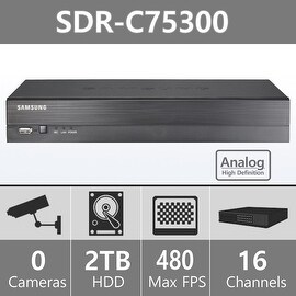 SDR-C75300 (2TB HDD) - Samsung 16CH Analog HD DVR from SDH-C75100 & SDH-C75080