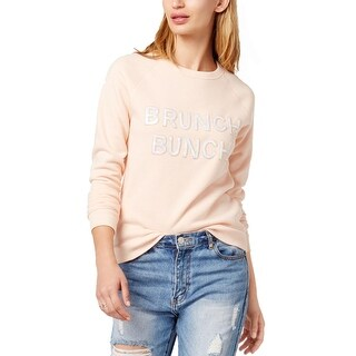 Bow & Drape Womens Juniors Brunch Bunch Sweatshirt Logo Athleisure