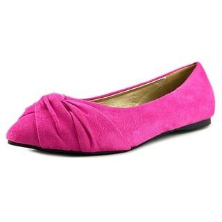 Ollio Ballet Women Round Toe Synthetic Pink Flats