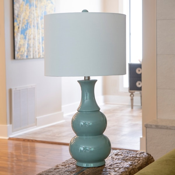 Copper Grove Arans Table Lamp with Off-white Drum Shade (26.5). Opens flyout.