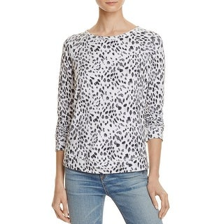 Soft Joie Womens Annora B Pullover Top Printed French Terry