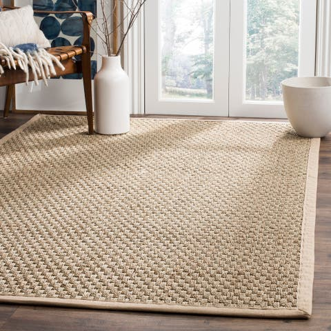 SAFAVIEH Natural Fiber Marina Basketweave Seagrass Rug