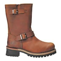 "Roadmate Boot Co. Men's 830 10"" Engineer Boot Desert Crazy Horse Leather"