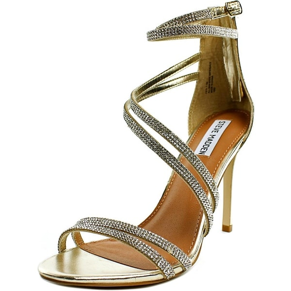 Steve Madden Fiffi Women Open-Toe Synthetic Silver Heels