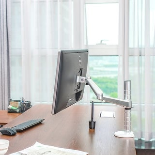 """Heavy Duty Aluminum Alloy Adjustable LCD Desktop Mount with Clamp Surface Mount for Up to 30"""" Screens"""