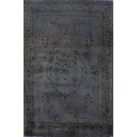 """Clearance Vintage Over-dyed Tabriz Persian Wool Area Rug Hand-knotted - 3'3"""" x 5'1"""""""